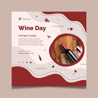 Weintagesquadratfliegerschablone