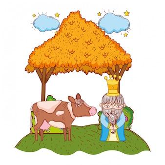 Weise-könig-cartoon