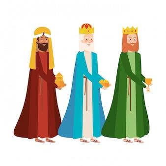 Weise könige krippenfiguren