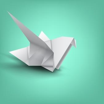Weisheit auf vogelpapierfaltung
