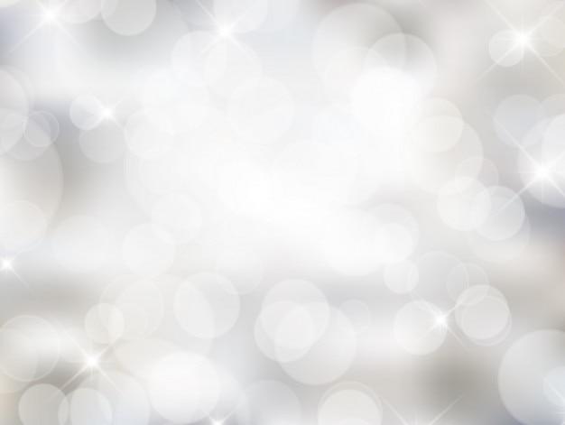 Weiß bokeh hintergrund in hellen stil
