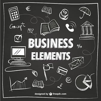 Weiß business-elemente