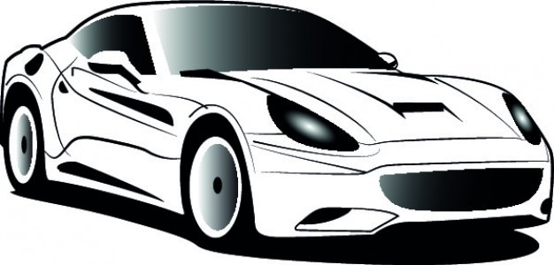 Weiß ferrari cartoon symbol vektor