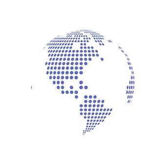 Weiß gepunktete globe glas transparente vektor-illustration.