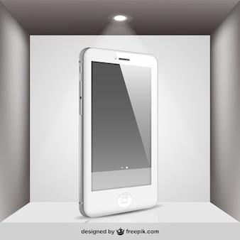 Weiß iphone mit spotlight
