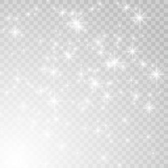 Weiß leuchtender lichteffekt