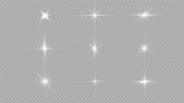 Weiß leuchtendes licht explodiert. mit strahl. transparent strahlende sonne, heller blitz. das zentrum eines hellen blitzes.