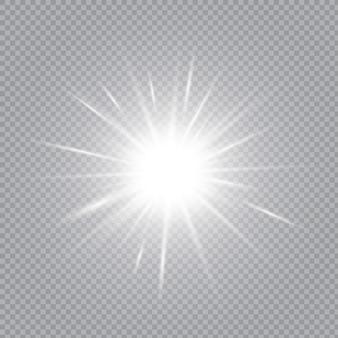 Weiß leuchtendes licht explodiert