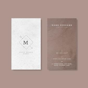 Weiß-lila visitenkarte