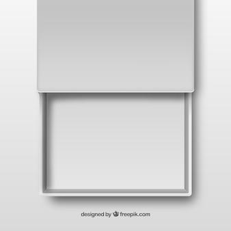 Weiß offenen schublade
