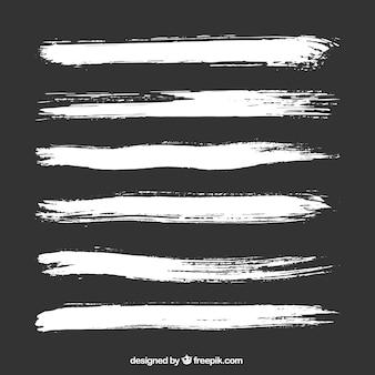 Weiß pinselstriche