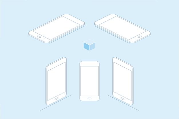 Weiß smartphones isoliert