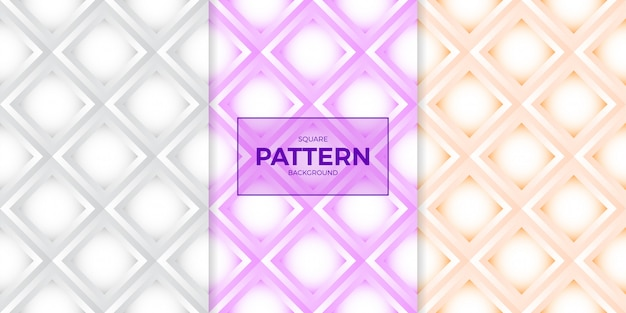Weißbuchart-polygonpolygon-nahtloses muster