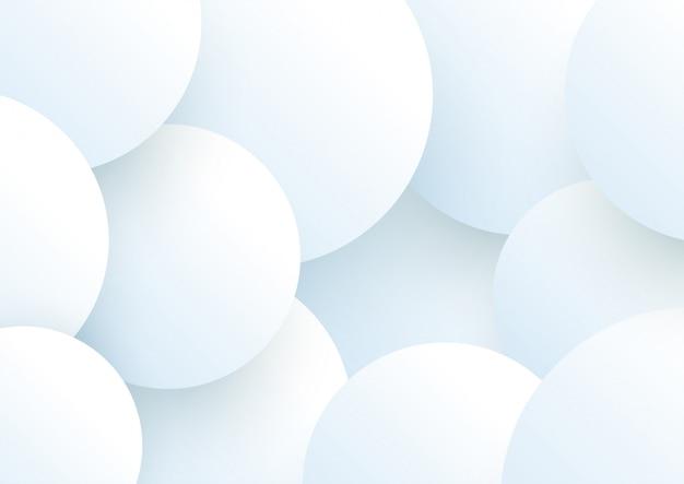 Weiße 3d kreise, die abstrakten hintergrund überlappen
