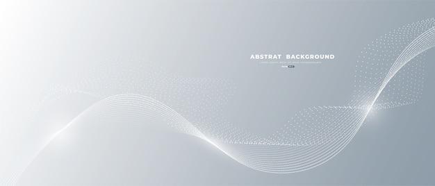 Weiße abstrakte fließende linien.