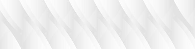 Weiße abstrakte geometrische halbtonmuster horizontale breite hintergrundpräsentationsvorlage