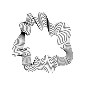 Weiße abstrakte kartenumrisslinienfahne