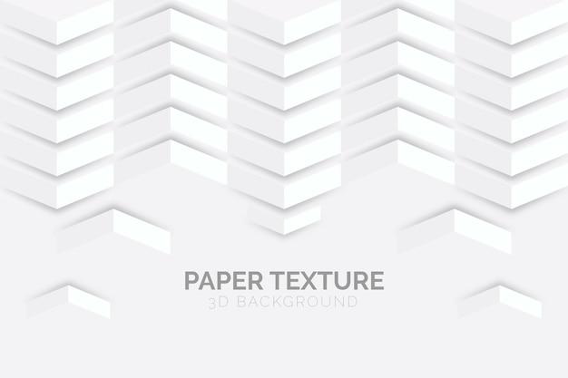 Weiße abstrakte tapete in der art des papiers 3d