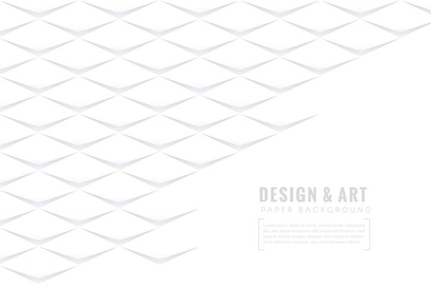 Weiße abstrakte tapete in der papierart