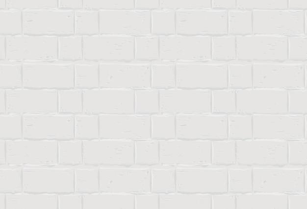 Weiße backsteinmauer. nahtloser texturhintergrund