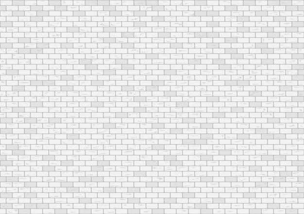 Weiße backsteinmauerhintergrund-vektorillustration