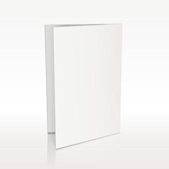 Weiße broschüre mit leerem ordner