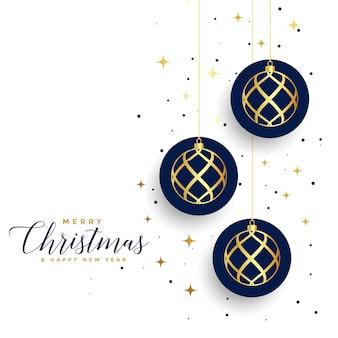 Weiße festivalkarte der frohen weihnachten