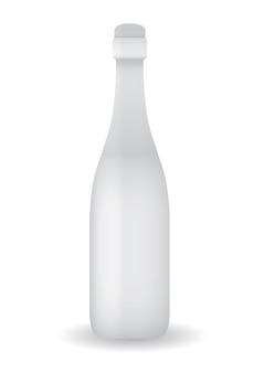 Weiße flasche vorlage