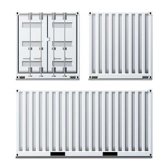 Weiße frachtcontainer