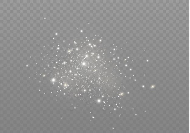 Weiße funken glitzern als besonderer lichteffekt.