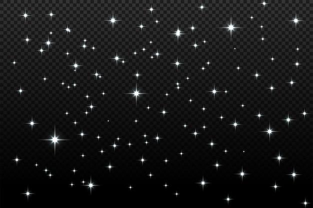 Weiße funken glitzern als besonderer lichteffekt