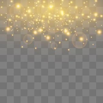 Weiße funken glitzern besonderen lichteffekt.
