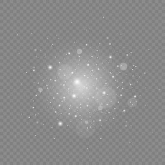 Weiße funken und glitzerlichteffekt