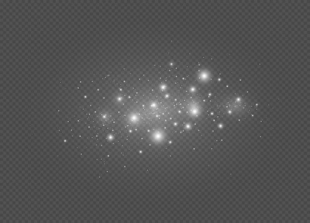 Weiße funken und sterne funkeln spezieller lichteffekt weihnachten abstraktes muster
