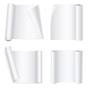 Weiße gebogene papierfahnen