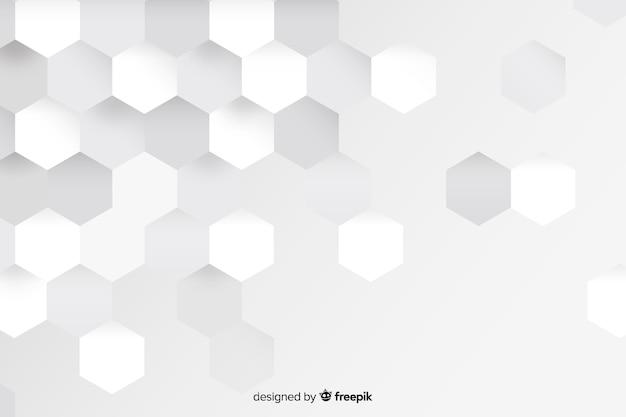 Weiße geometrische formen im papierstil