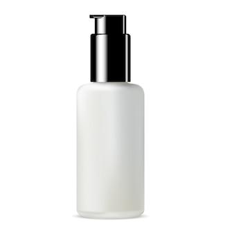 Weiße glasflasche