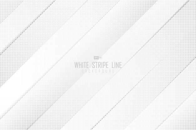 Weiße graue streifenlinie des abstrakten farbverlaufs des dekorativen musterdesignhintergrunds der halbtonlinie.