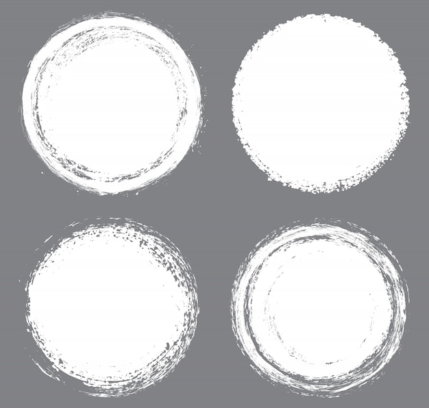 Weiße grunge kreise