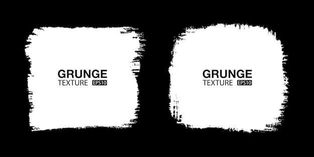 Weiße handgezeichnete grunge-hintergrund-set pinselstrich verkauf banner not texturen leere formen