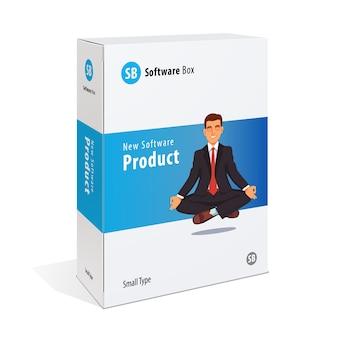 Weiße karton-software-box