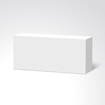 Weiße kiste. paket. .