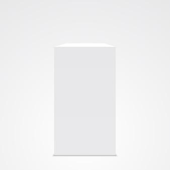 Weiße kiste. stand. sockel. .