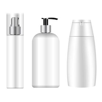 Weiße kosmetikflasche