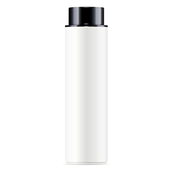 Weiße kosmetische flasche gesichtswasser