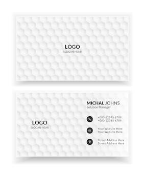 Weiße kreative und saubere visitenkartenvorlagen für unternehmen.