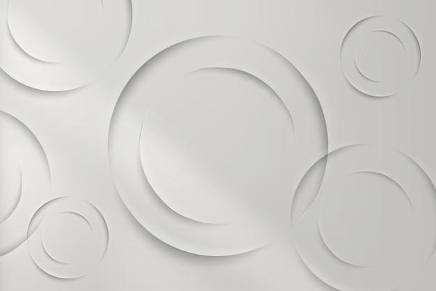 Weiße kreise mit schlagschattenmusterhintergrund