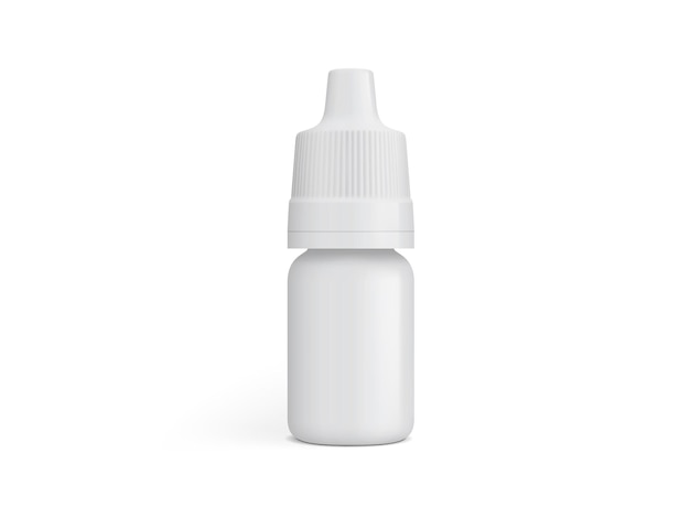 Weiße kunststoffverpackung isoliert