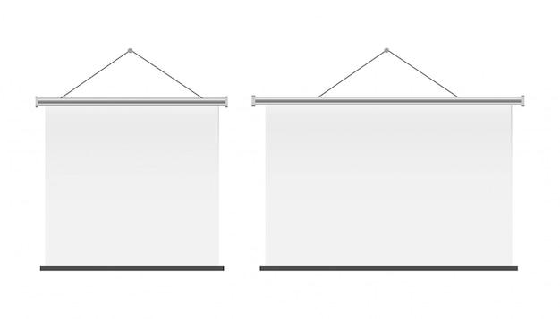 Weiße leere projektionsfläche für präsentation oder konferenz.