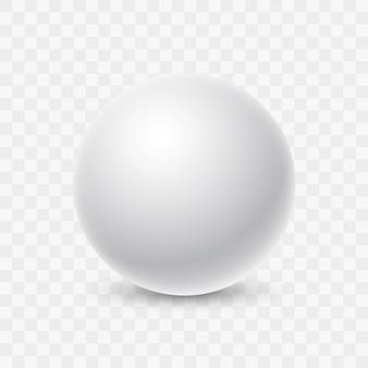 Weiße leere runde glatte kugel mit schatten